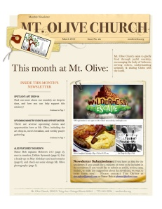 Mt Olive April Newsletter PDF