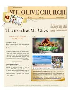 Mt. Olive July Newsletter